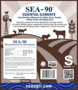SEA-90 Essential Elements Mineral for All Livestock
